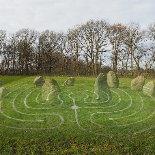 Labyrint & steencirkel