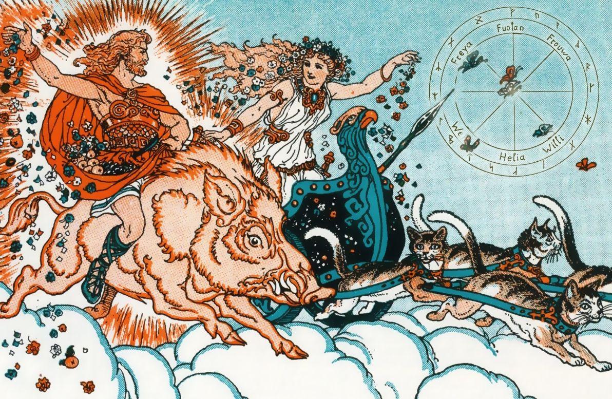 Freyr en Freya